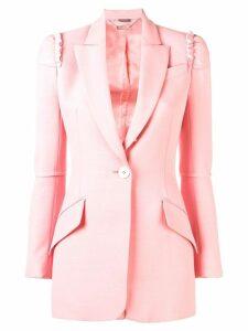 Alexander McQueen ruffle detail blazer - Pink