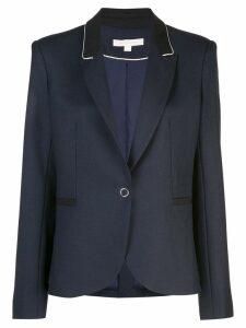 Jonathan Simkhai black trim single breasted blazer - Blue