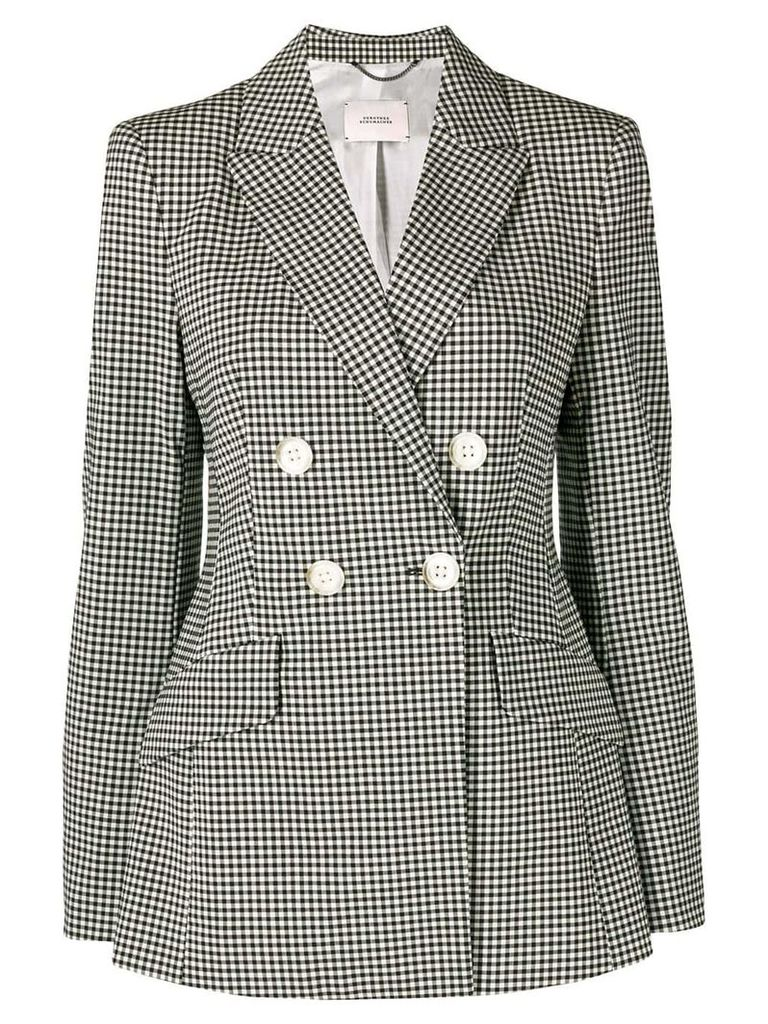 Dorothee Schumacher gingham fitted blazer - Black