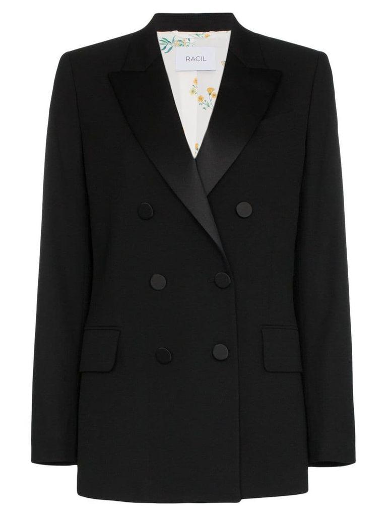 Racil Casablanca collared double-breasted blazer - Black