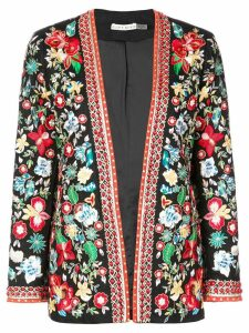 Alice+Olivia floral embroidered jacket - Black