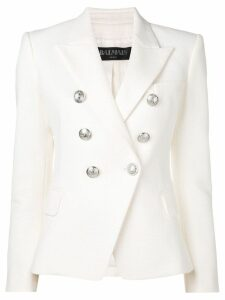 Balmain button embellished blazer - White