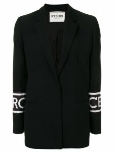 Iceberg logo print blazer - Black