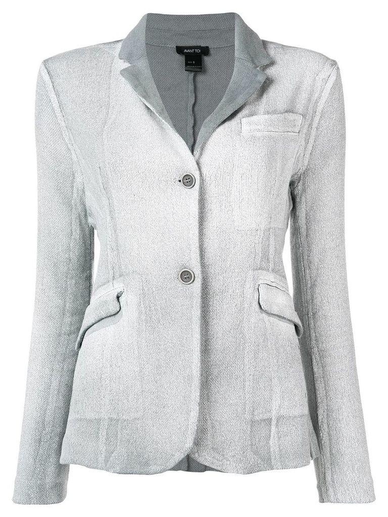 Avant Toi fitted blazer - Grey