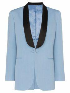Calvin Klein 205W39nyc two-tone wool tuxedo jacket - Blue