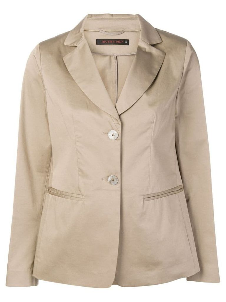 Incentive! Cashmere relaxed fit blazer - Neutrals