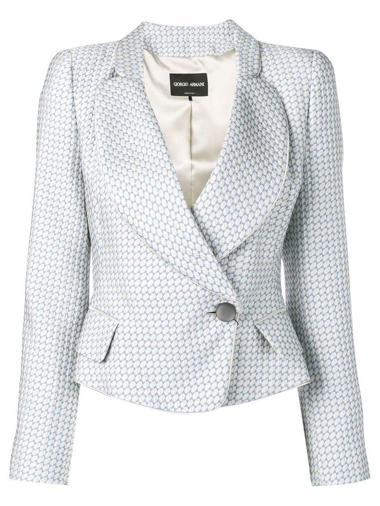Giorgio Armani fitted blazer - Blue