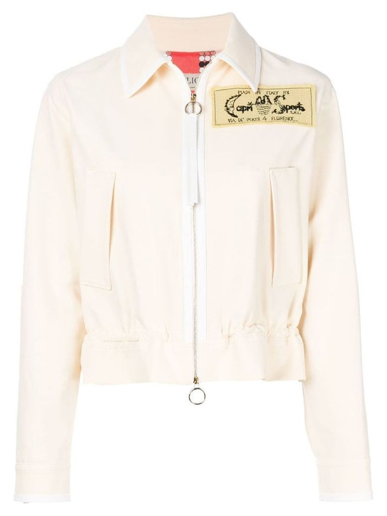 Emilio Pucci embroidered patch jacket - Neutrals