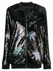 Philipp Plein sequinned bomber jacket - Black