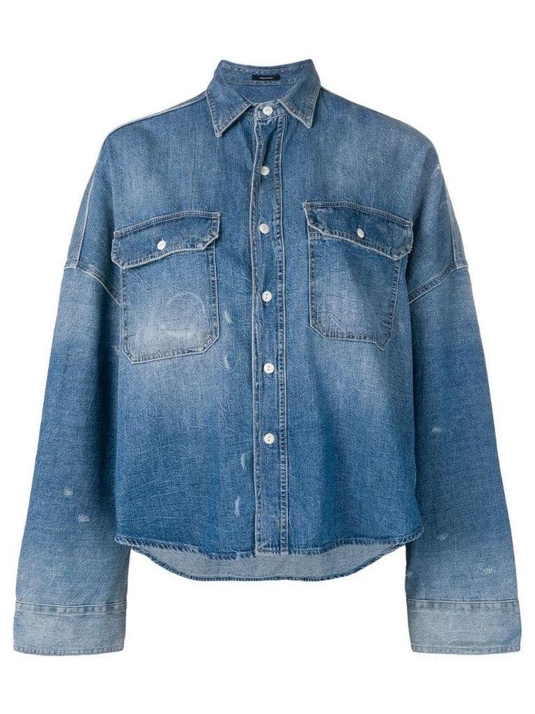 R13 oversized denim shirt jacket - Blue