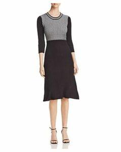 Calvin Klein Mixed-Stitch Sweater Dress