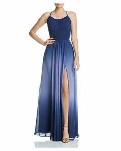 Aqua Ombre Chiffon Gown - 100% Exclusive