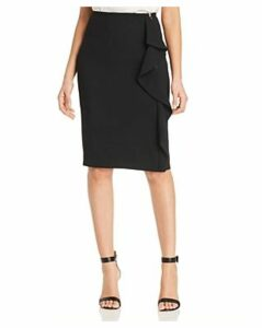T Tahari Ruffle Pencil Skirt