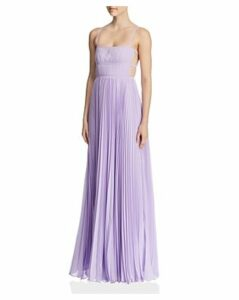 Fame and Partners Erina Pleated Cutout Gown
