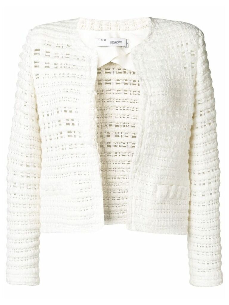 Iro crochet short jacket - White