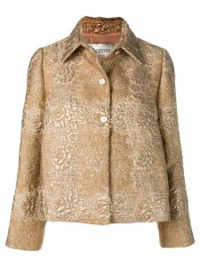 Valentino floral brocade jacket - Gold