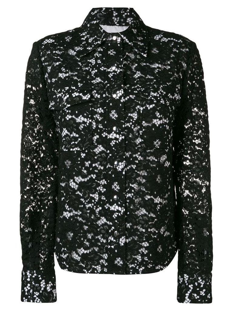 Calvin Klein lace detail jacket - Black