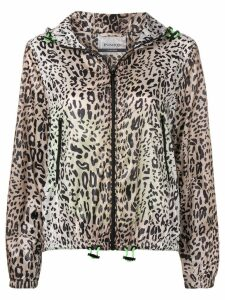 Pinko leopard print hooded jacket - Neutrals