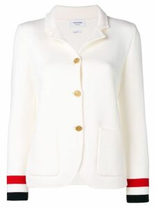 Thom Browne Rwb Cuff Double-Face Sport Coat - White