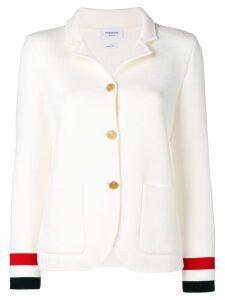 Thom Browne Rwb Cuff Double-Face Sport Coat - White