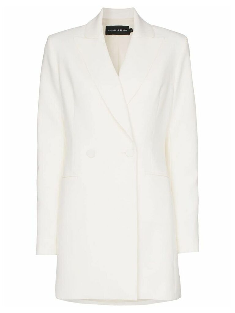 Michael Lo Sordo double-breasted long blazer - White