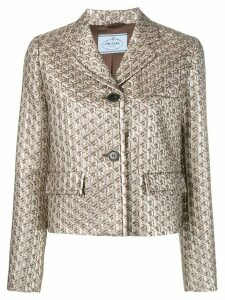 Prada jacquard fitted jacket - Brown