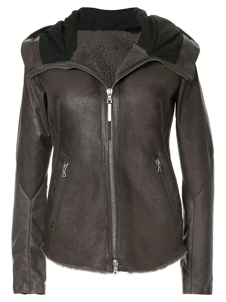 Isaac Sellam Experience zipped leather jacket - Brown