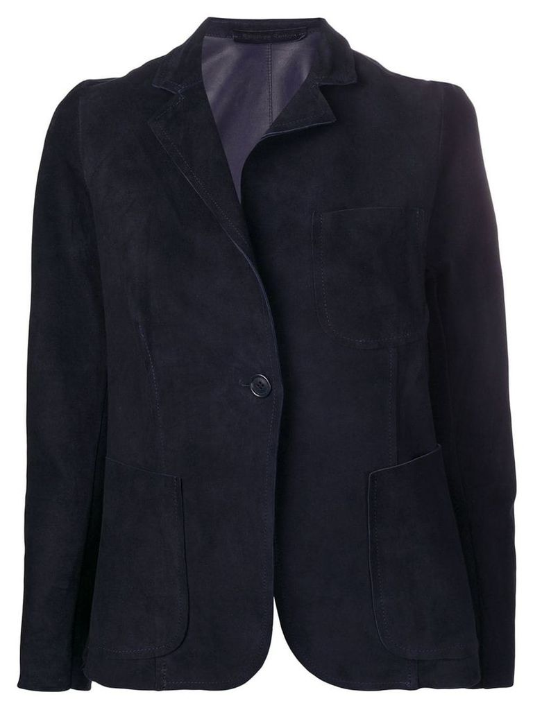Salvatore Santoro single breasted blazer - Blue