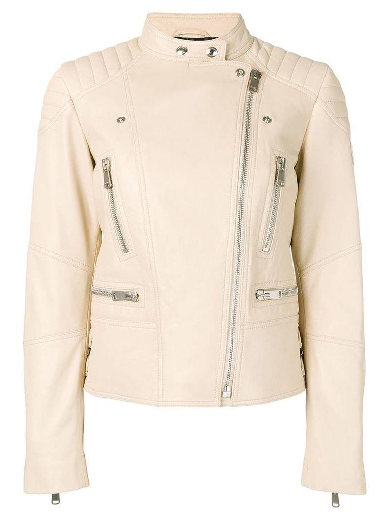 Belstaff Sidney Leather Jacket - Neutrals