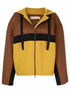 Marni oversized hooded jacket - Brown