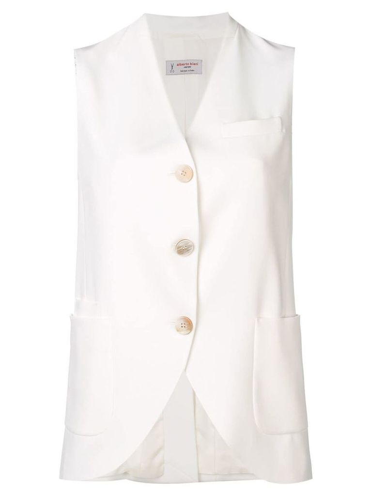 Alberto Biani button waistcoat - White
