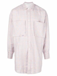 Faith Connexion oversized plaid shirt - 650 Pink