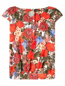 Marni floral print blouse - Red