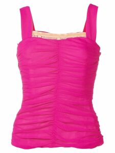 Galvan sleeveless ruched top - Pink