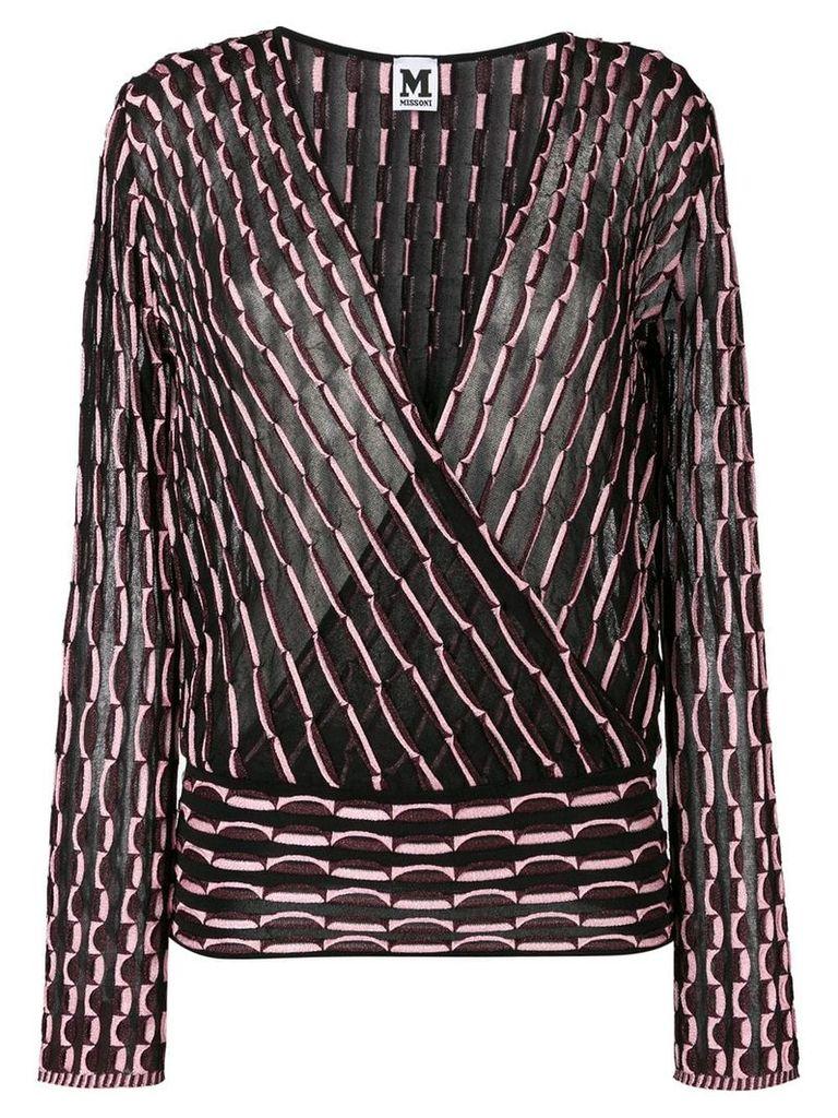 M Missoni patterned blouse - Black