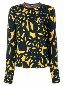 Marni patterned blouse - Blue