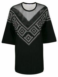 Versace Collection sheer embellished blouse - Black