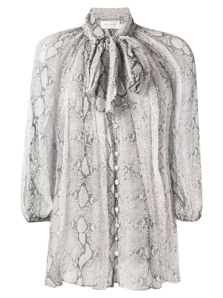 Zimmermann pussy bow blouse - Neutrals