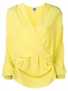 M Missoni V-neck wrap blouse - Yellow