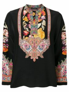 Etro printed longsleeve blouse - Black