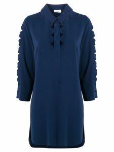 Akris Punto cut-out detail blouse - Blue