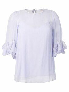 See By Chloé ruffle sleeve blouse - Purple