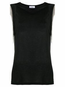 Dondup chain fringe top - Black