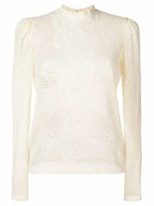 Philosophy Di Lorenzo Serafini lace embroidered blouse - Neutrals