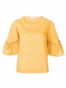 See By Chloé gathered sleeve blouse - Yellow