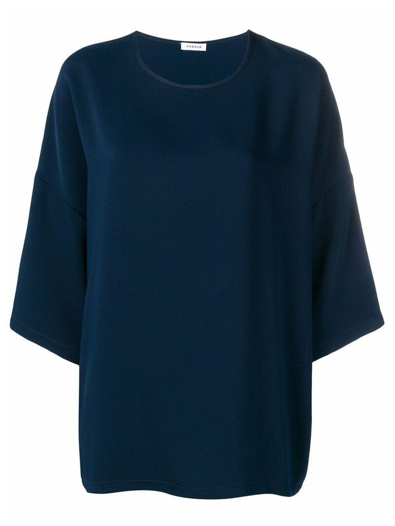 P.A.R.O.S.H. dropped shoulder blouse - Blue