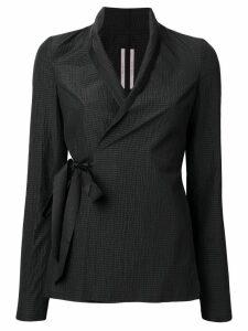 Rick Owens textured wrap jacket - Black