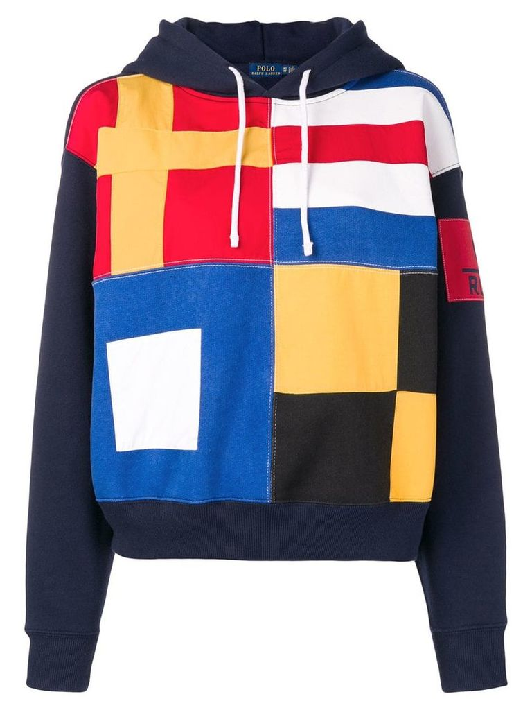 Polo Ralph Lauren flag print hoodie - Blue