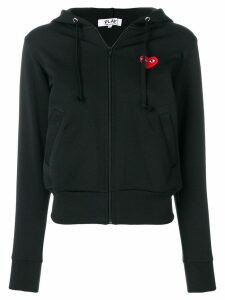 Comme Des Garçons Play logo patch hoodie - Black