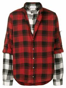 Faith Connexion checked shirt - Red